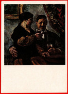 28013 Konchalovsky Self-portrait With His Wife A Pair Of Two Wine Glass Alcohol Drink Alcohol USSR 1974 Soviet Postcard - Schilderijen
