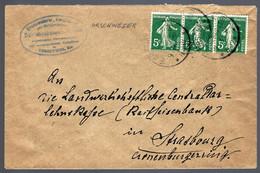 EN PROVENANCE D' ORSCHWIHR - ORSCHWEIER - CACHET ALLEMAND SUR TIMBRES FRANCAIS - - Alsace-Lorraine