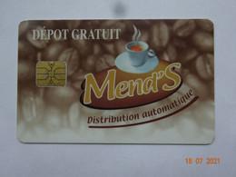CARTE A PUCE CHIP CARD CARTE FIDÉLITÉ DISTRIBUTEUR DE BOISSON CAFÉ MEND'S  91160 LONGJUMEAU - Cartes De Fidélité Et Cadeau