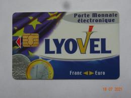 CARTE A PUCE CHIP CARD CARTE FIDÉLITÉ  PORTE-MONNAIE ELECTRONIQUE LYOVEL  95943 ROISSY - Cartes De Fidélité Et Cadeau