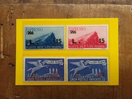 SAN MARINO 1947/48 - Espressi Nn. 15/16-18-20 Nuovi ** + Spese Postali - Unused Stamps