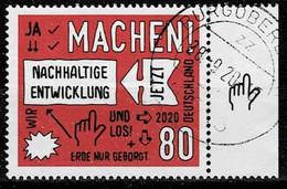 Bund 2020,Michel# 3525 O Nachhaltige Entwicklung - Oblitérés