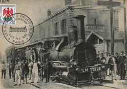 """LES CHEMINOTS PHILATELISTES   XXième Exposition  Paris  -  Gare De Malesherbes  (document """"artisanal"""" De Circonstance) - Collector Fairs & Bourses"""