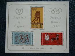 Olympic Games # Cyprus 1964 MNH # Block Summer 1964: Tokyo - Summer 1964: Tokyo