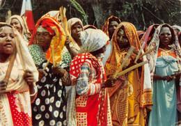 """AMORA Prospection - COMORES Femmes Indigènes -Timbrée, Oblitérée """"Commores"""" 1957 (¬‿¬) ♦ - Publicité"""