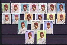 Marokko, Maroc 1968 Used: 18 Stamps From Mi.-Nr. 599-617 (some Smaller Values Missing!) - Marruecos (1956-...)