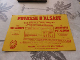 B-37 , Buvard Potasse D'Alsace , Les Engrais Potassiques - Agriculture