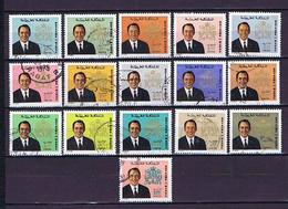 Marokko, Maroc: Hassan II. 1973, 13 Diff. Used - Marruecos (1956-...)