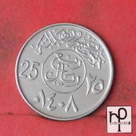 SAUDI ARABIA 25 HALALA 1408 -    KM# 63 - (Nº43943) - Saudi Arabia