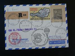 Carte Postcard Vol Montgolfière Ballonpost Ergee 1976 Autriche Austria (ref 98104) - Per Palloni