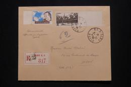 FRANCE - Enveloppe En Recommandé De Dijon Pour Dijon En 1941, Affranchissement Beaune Avec  Vignette Mermoz - L 101272 - 1921-1960: Moderne
