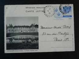 Entier Postal Carte Lettre Chateau De Malmaison Castle Napoleon 1938 (ref 98207) - Tarjetas Cartas