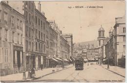 Sedan (08 - Ardennes) L'Avenue Crussy - Tramway - Sedan