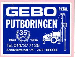 Sticker - GEBO Putboringen - Zandvlietstraat Dessel - 35 Jaar - Autocollants