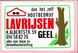 Sticker - Houtbrdrijf LAVRIJSEN - K. Albertstraat Geel - Autocollants
