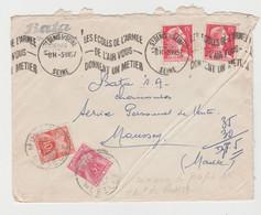 Tarif Du 06/01/49 / LSC De St Denis De 1957 Taxée à L'arrivée à Moussey - Cartas Con Impuestos