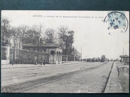 92 ,sèvres ,entrée De La Manufacture  Nationale Et Le Pont En 1906 - Sevres