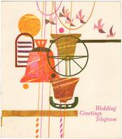 GB 1966 Wedding Greetings Telegram GPO Télégramme Mariage Cloche Cloches Bell Bells Oiseaux Birds Clocher Girouette - Clocks