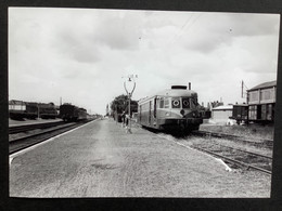 Photographie Originale De J.BAZIN :C.F.secondaires Du Nord-Est : Ligne HAM- St Quentin -Guise : Gare De HAM En 1952 - Treni