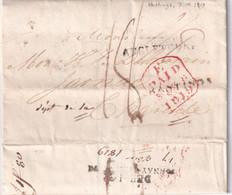 GRANDE BRETAGNE 1819 LETTRE DE HASTINGS AVEC  CORRESPONDANCE - ...-1840 Prephilately