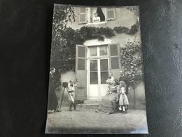 Photo (~1900) Apprenti Photographe ADAM Frantz & André, Soeur & Parents REVERMONT - Identified Persons