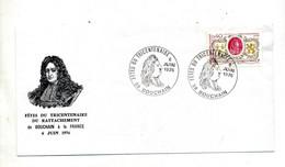 Lettre Cachet Bouchain Fete Tricentenaire - Commemorative Postmarks
