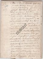 Manuscrit/Parchemin -Tournai/Doornik 1772 8blz Papieren Lakzegel, Zie Foto (U196) - Manuscripts