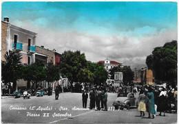 Cansano (L'Aquila). Piazza XX Settembre. Auto, Car, Voitures, Vespa Piaggio. - L'Aquila
