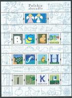 Pologne Mini-feuille YT N°3996/4008 Alphabet Polonais Neuf ** - Unused Stamps