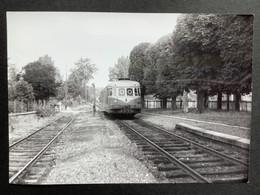 Photographie Originale De J.BAZIN :C.F.secondaires Du Nord-Est : Ligne HAM : Vers RIBEMONT En 1955 - Trains