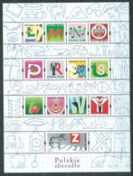 Pologne Mini-feuille YT N°4020/4032 Alphabet Polonais Neuf ** - Unused Stamps