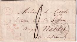 FRANCE 1836 LETTRE DE LA FERE AVEC    CORRESPONDANCE - 1801-1848: Precursori XIX