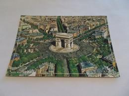 PARIS 75 EN AVION AU DESSUS DE L ARC DE TRIOMPHE DE L ETOILE - Arc De Triomphe