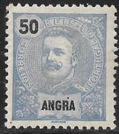 Angra – 1898 King Carlos 50 Réis Mint Stamp - Angra