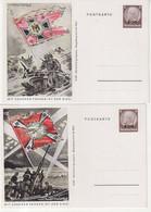 "FRANCE : 8 CP . HINDNBURG 6 Pf . "" PROPAGANDE POLYCHROMES AVEC FANION . 1941 . - Elsass-Lothringen"