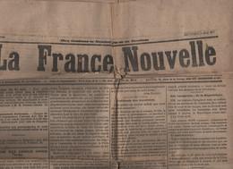 LA FRANCE NOUVELLE 30 05 1877 - CONFLIT GRECO TURC - SOUS-PREFETS - AUTRICHE - DEPUTES SOUTIENTS A MAC -MAHON - DRAPEAU - 1850 - 1899