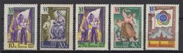 Russie 1957: TP Y&T N° 1929/33 Dentelés **, MNH . - Neufs