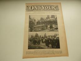 """Origineel Knipsel ( 4444 ) Uit Tijdschrift """" Ons Volk """" 1922 : Begrafenis Graaf Woeste  Ukkel  Uccle - Unclassified"""
