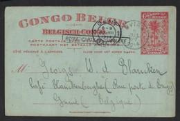 CONGO BELGE * BELGISCH CONGO * 1914 * UVIRA * GAND * GENT * TIMBRE 10 CENTIMEN * 2 SCANS - 1894-1923 Mols: Covers