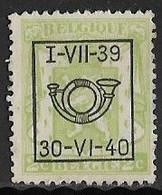 België Typo Nr. 428 - Sobreimpresos 1936-51 (Sello Pequeno)
