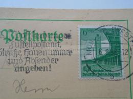 D181913  Postkarte -  Deutsches Reich (1938) Deutsches Turn-u.Sportfest Breslau -cancel Münster (Westfalen) - Covers & Documents