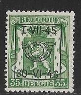België Typo Nr. 544 - Sobreimpresos 1936-51 (Sello Pequeno)
