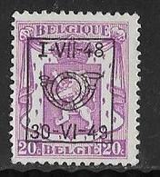 België Typo Nr. 584 - Sobreimpresos 1936-51 (Sello Pequeno)