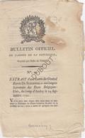 Bulletin Officiel 1790 Lettre Général Baron Schoenfeld Camp D'Andoy/Wierde (N861) - Documentos Históricos