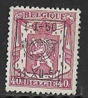 België Typo Nr. 602 - Sobreimpresos 1936-51 (Sello Pequeno)