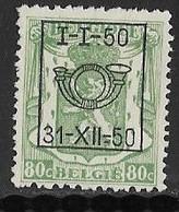 België Typo Nr. 603 - Sobreimpresos 1936-51 (Sello Pequeno)