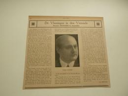 """Origineel Knipsel ( 4455 ) Uit Tijdschrift """" Ons Volk """" 1922 :   Firmin Swinnen In Amerika  -  Hersselt  Herselt - Unclassified"""