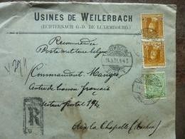 1921  Lettre  Bon Etat  Cachet Luxembourg - Brieven En Documenten