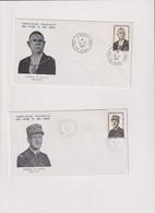AFARS ET ISSAS-2 Enveloppes 1er.jour-DE GAULLE-TP N°375/6-1971 - Lettres & Documents