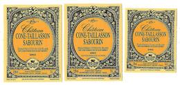 Lot De 3  étiquettes  Autocollantes Neuves    Premières Côtes De Blaye  Chateau CONE-TAILLASSON SABOURIN - Bordeaux